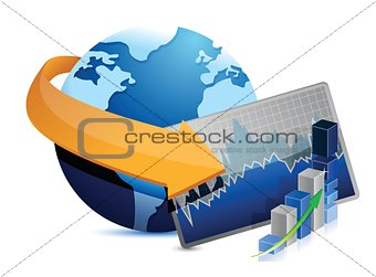 business stock market globe sign