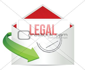 legal Concept representing email