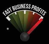 fast business profits speedometer