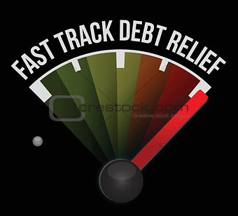 fast track debt relief speedometer
