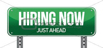 hiring now sign