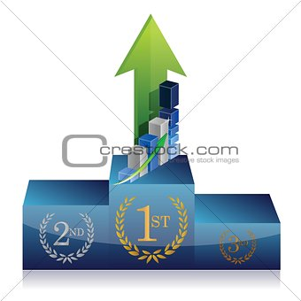 business winner podium graph