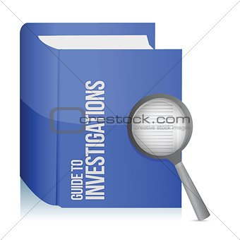 guide to investigations book and magnify glass