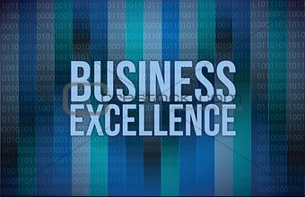 business excellence words on digital technology