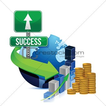 profits success globe concept design