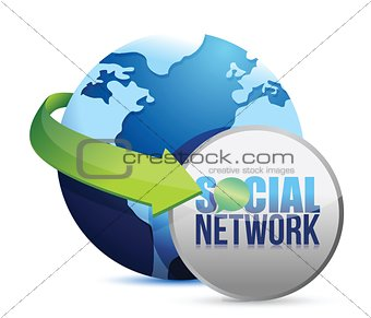 social media globe