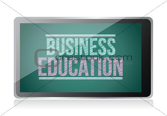 Business Education on display. tablet