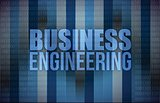 business engineering on digital screen, business