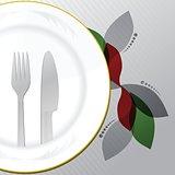 Restaurant menu food and drinks