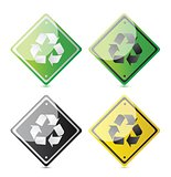 recycle sign in different format eco
