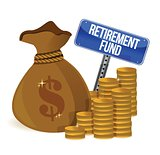 retirement fund money bag