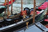 Venetian gondolas at the berth.