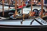 Venetian gondolas at the berth.