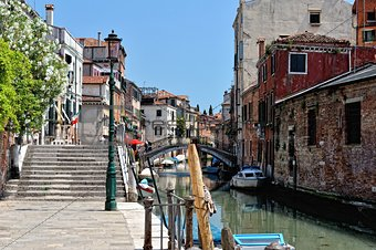 Venetian canal and houses.