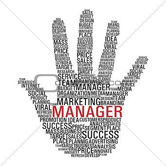 Marketing hand communication.