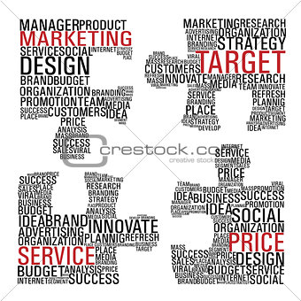 Marketing  jigsaw piece communication.