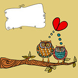 Owl love greeting card