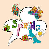 Spring speech bubble