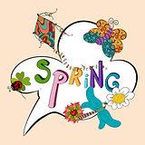 Spring speech bubble