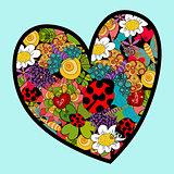Vibrant spring heart love