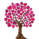 Love concept tree card