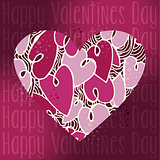 Valentine love heart greeting card