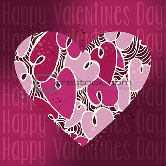 Valentine love heart greeting card