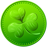Vector green clover. symbol of St. Patrick&#39;s Day