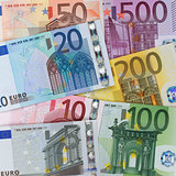 Present Euro banknotes