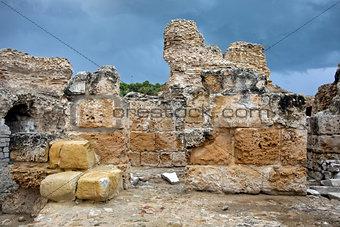 Antonine Baths wall