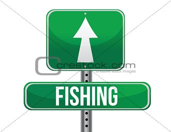 fishing traffic road sign