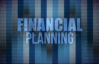 business concept: words financial planning