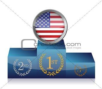 us winner's podium