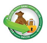 bank secure Money icon seal