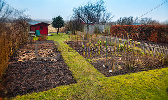 Small garden allotment. Traditional Danish.