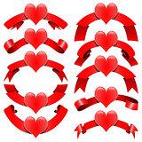 Romantic decorative ribbons
