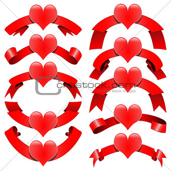 Romantic decorative ribbons