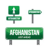 afghanistan Country road sign