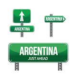 argentina Country road sign