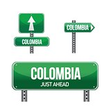 colombia Country road sign