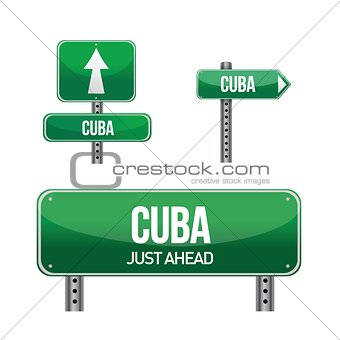 cuba Country road sign