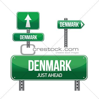 denmark Country road sign
