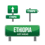 ethiopia Country road sign