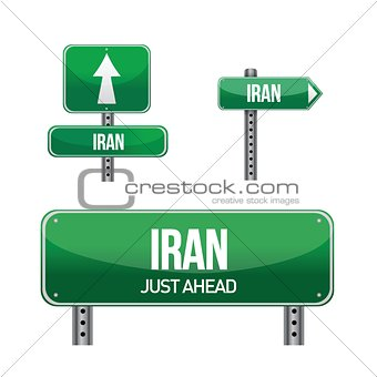 iran Country road sign