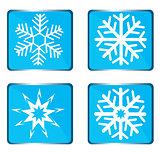 Set vector snowflake