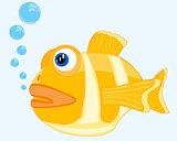 Tropical fish in ocean