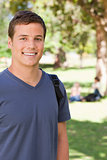 Portrait of a male student smiling