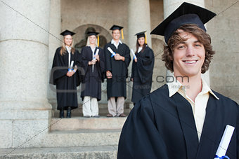 Close-up of a smiling graduate