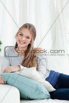 Smiling girl looking at the camera