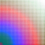 Multicolored dots changing form